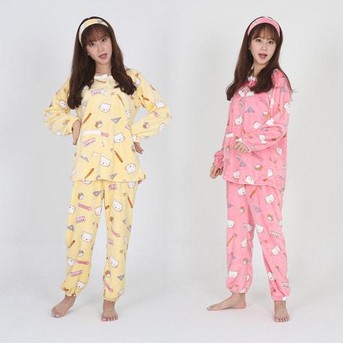 [더산스타일]티쳐 밍크 수면잠옷세트-헤어밴드포함 SD-6906